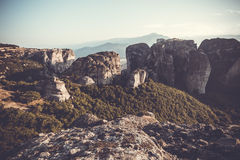 Meteors monasteries in Greece Stock Photo