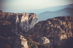 Meteors monasteries in Greece Royalty Free Stock Photos