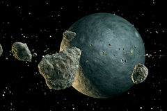 Meteors and planet. Stock Photography