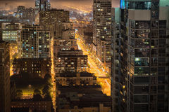 120 Meter über Chicago Stockbild
