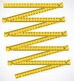 Meter. Wood meter measuring instrument - illustration vector illustration