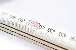 Meter. Detail of a rule where you see the millimeters and centimeters Stock Photography