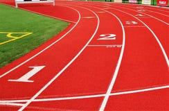200-Meter-Anfangslinie Lizenzfreies Stockfoto