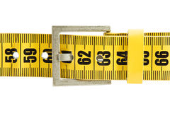 Meter belt slimming. Isolated on a white background stock image