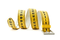 Meter belt slimming. Isolated on a white background royalty free stock images