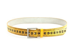 Meter belt slimming. Isolated on a white background stock photo