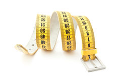 Meter belt slimming. Isolated on a white background stock images
