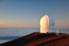 3.6 meter Canada-France-Hawaii optical telescope Stock Images