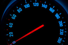 Meter of car speed Stock Photo