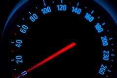 Meter of car speed Stock Photo
