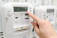 Meter der elektrischen Energie lizenzfreies stockfoto