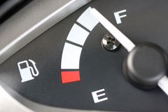 Meter displays the level of fuel Royalty Free Stock Photos