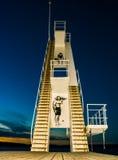 10 meter dykningplattform Arkivbilder