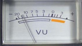 Meter för nivå för signal för visartavlaindikatormått arkivfilmer