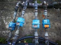 Meter för vattenrör Arkivfoto