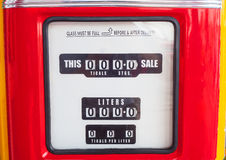 Meter gas pump head Royalty Free Stock Images