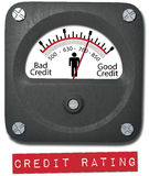 Meter good credit rating report person Stock Images