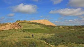 90 meter hög sanddyn på västkusten av Danmark Rubjerg Knude Arkivfoton