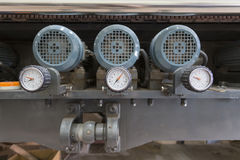 Meter heat in the heating system. Stock Photos