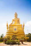 12 Meter hohe große Buddha-Bild, gemacht von 22 Tonnen Messing in Phu Lizenzfreie Stockbilder