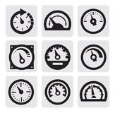 Meter icons Royalty Free Stock Photo