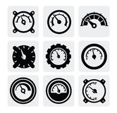 Meter icons Stock Images