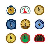 Meter icons Stock Photo