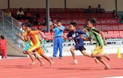 100-Meter-Lauf Stockfotos