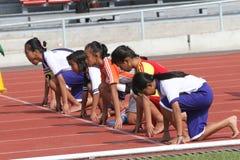 100-Meter-Lauf Stockbild