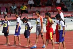 100-Meter-Lauf Stockfotografie