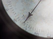 Meter needle of old barometer closeup Stock Photos
