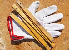 Meter och handske Royaltyfri Foto