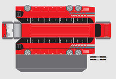 15 Meter Paper bus model Royalty Free Stock Photography