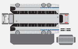 15 Meter Paper bus model Royalty Free Stock Photo