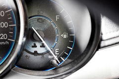 The meter shows the oil before start Stock Photography
