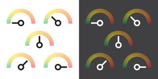 Meter signs infographic gauge element Stock Photography