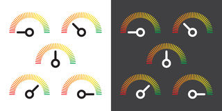 Meter signs infographic gauge element Stock Images