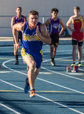 ! 00 meter sprintar Royaltyfri Foto