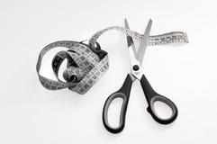 Meter studio and cutting scissors Stock Photo