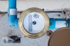 Meter water. Valve water equipment stock photography