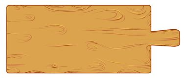 Meter wood cutting board. Isolated on white vector illustration royalty free illustration