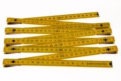 Meter wooden carpenter Royalty Free Stock Images