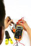 Electric digital tester Royalty Free Stock Images