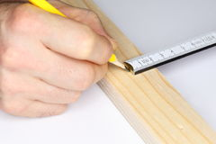 Metering scale and pen Stock Image