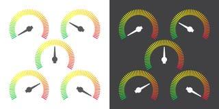 Metern undertecknar den infographic illustrationen för måttbeståndsdelvektorn Royaltyfria Foton