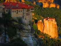 Meteora Monastery complex Royalty Free Stock Photography