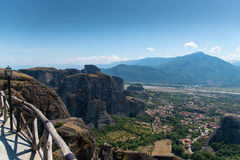 Meterora Valley. Amazing  valley from Meteora Greece Royalty Free Stock Photos