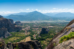 Meterora Valley. Amazing  valley from Meteora Greece Royalty Free Stock Image