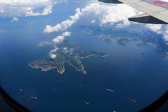 9000 meters altitude landscape stock image