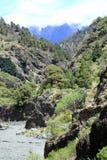 2426 meters hoge Roque DE los Muchachos als bovenkant Stock Foto